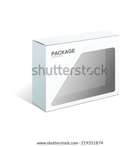 White Package Box. For Software&Hardware, vector Illustration