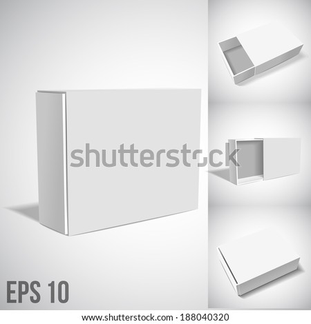 White Package Box. SET - stock vector