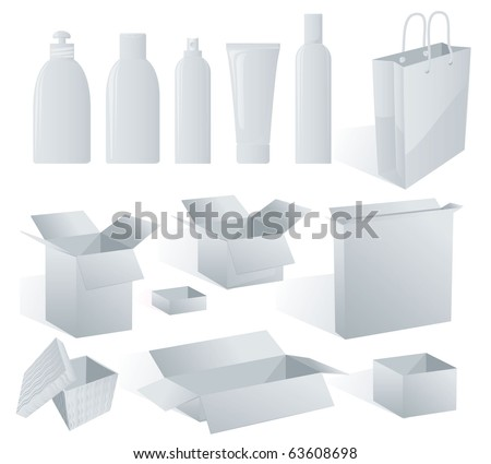 White package templates to put your design on. Vector - stock vector