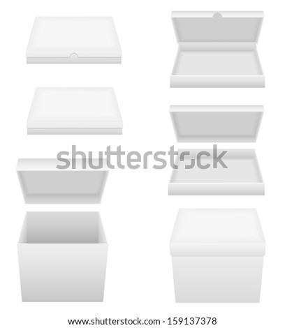 white packing box vector illustration isolated on background - stock vector