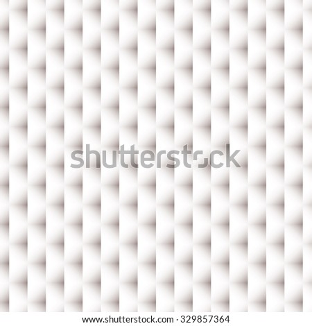 White paper background with woven design and shadow effect - stock vector