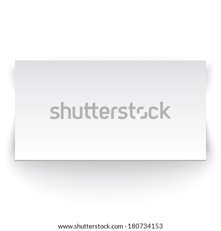 White paper banner. Perfect for your presentations. Vector illustration