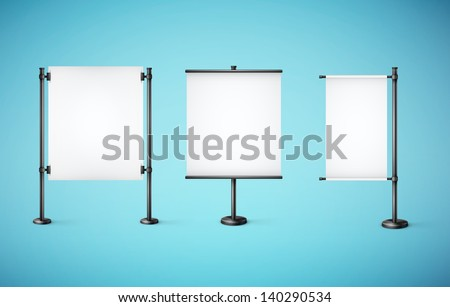 white paper board with empty space  eps10 vector illustration - stock vector