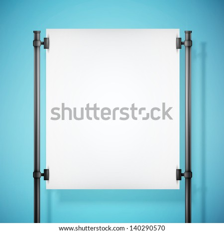 white paper board with empty space  eps10 vector illustration