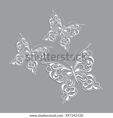 Paper butterfly stock images royalty free images for White paper butterflies