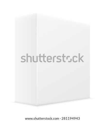 white paper carton box packing vector illustration isolated on background