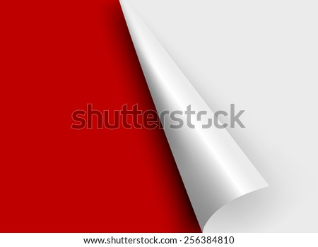 white paper corners. Vector illustration - stock vector
