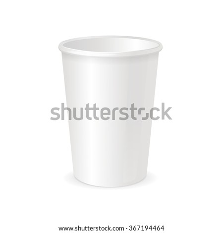 White Paper Cup Template for Coffee or Tea To Take Away. Vector illustration - stock vector