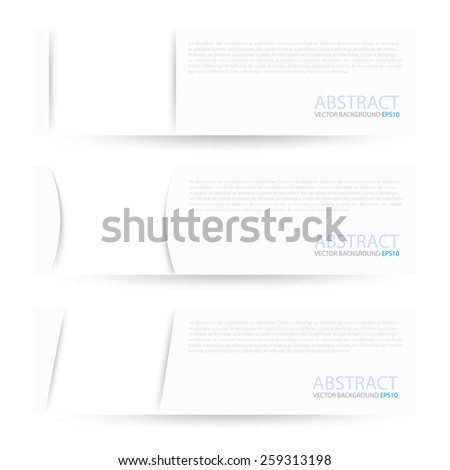 White paper label vector background objects set on white space for text and message design - stock vector