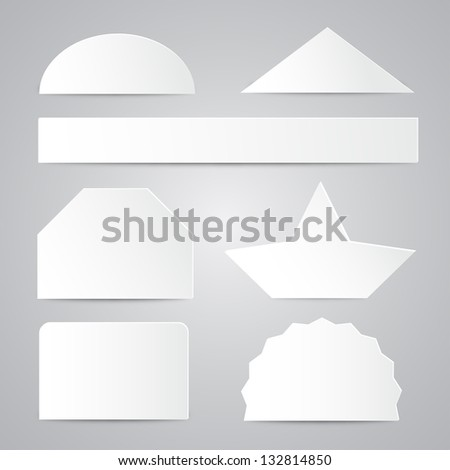White Paper Shapes - stock vector