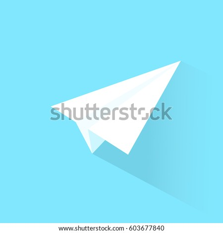 White paper vector airplane