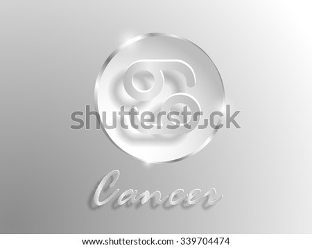 white paper zodiac sign on a gray background