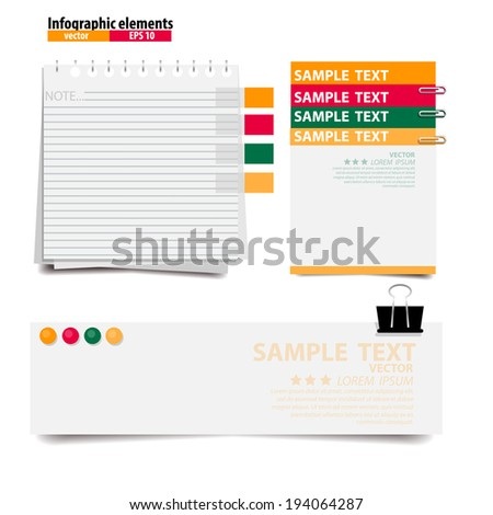 White Papers ready for your message,Vector illustration.