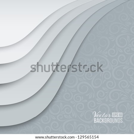 White papers with corner curl, layer by layer. Vector illustration, contains transparencies, gradients and effects. - stock vector