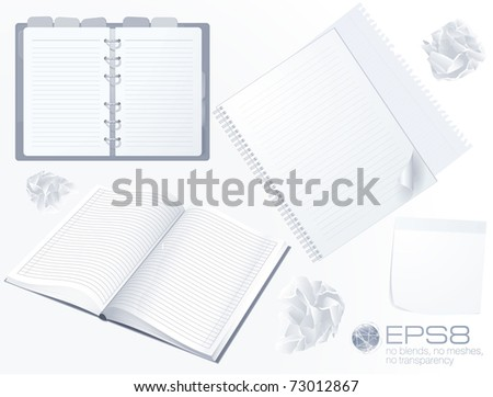 White paperwork. Vector