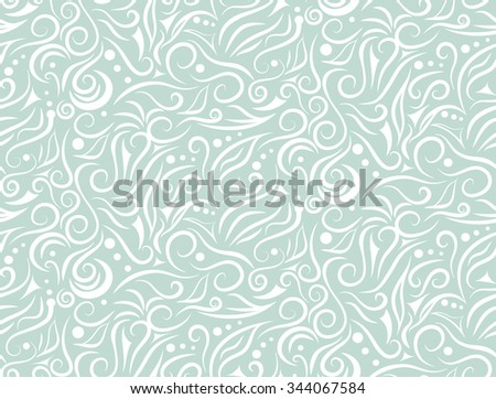 White pattern on light green background