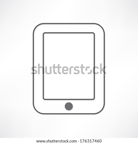 White PDA - stock vector