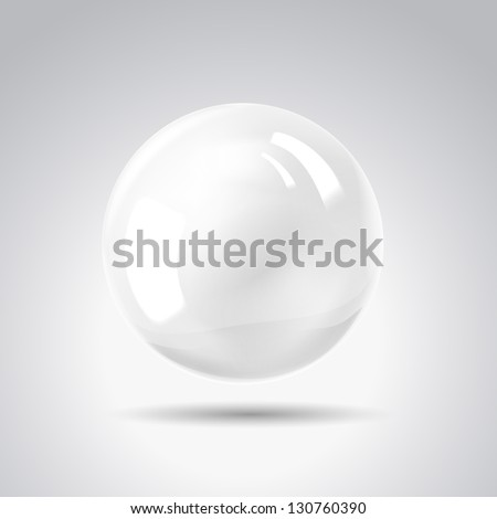 White pearl. Vector illustration, contains transparencies, gradients and effects. - stock vector
