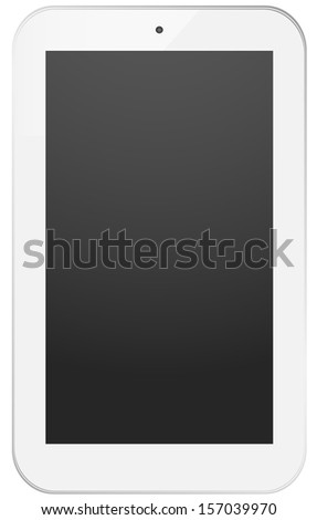 White phone/tablet , isolated on white.