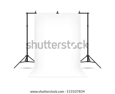 White photo background. Vector EPS10. Isolated on white. - stock vector