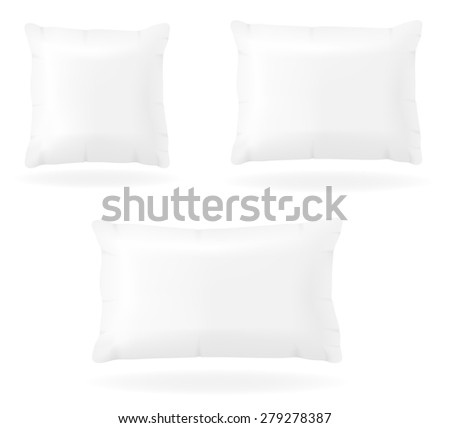 white pillow to sleep vector illustration isolated on background