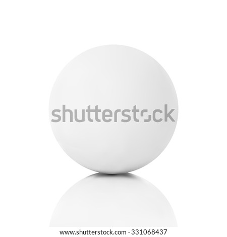 White plaster ball on a white background isolated