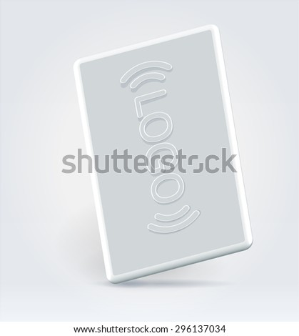 White plastic office security visitor magnetic card  - stock vector