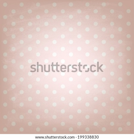 White Polka dots on pink background. Retro style. Design and decor.  Vector illustration. - stock vector