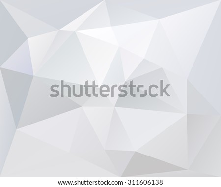 White polygonal triangle geometric vector background, light and pale color texture, in vector - stock vector