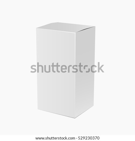 White Product Cardboard Package Box Illustration Isolated On White Background mock up Template For Your Design eps 10 vector