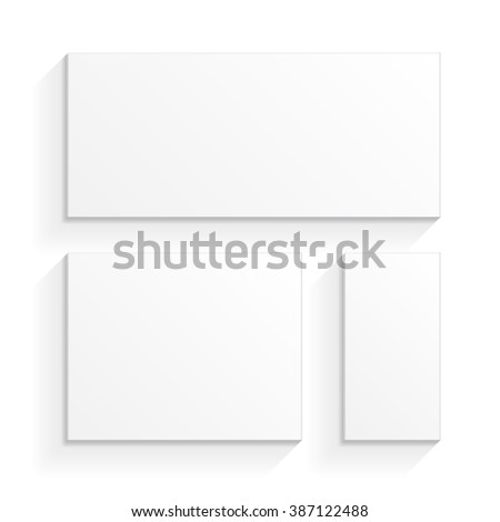 White Product Cardboard Package Boxes. Top View. Illustration Isolated On White Background. Mock Up Template Ready For Your Design. Vector EPS10 - stock vector