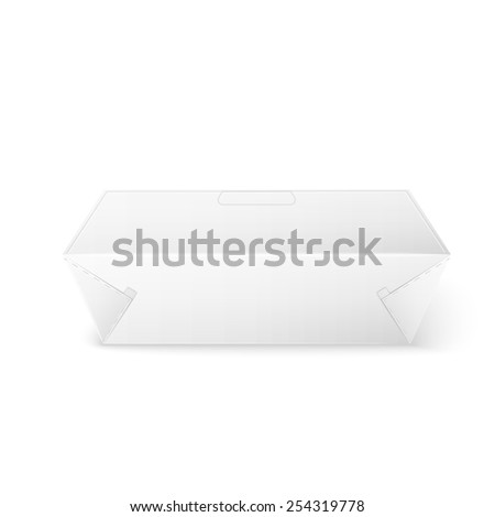 White Product Cardboard rectangular Package Box. Illustration Isolated On White Background. Mock Up Template Ready For Your Design. Vector EPS10