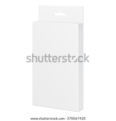 White Product Package Box. For Pencils, Pens, Felt-tip Pens Illustration Isolated On White Background. Mock Up Template Ready For Your Design. Product Packing Vector EPS10 - stock vector