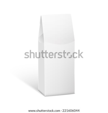 White Product Package Box Illustration Isolated On White Background. Product Packing Vector  - stock vector