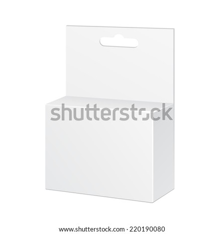 White Product Package Box Illustration Isolated On White Background. Ready For Your Design. Product Packing Vector EPS10