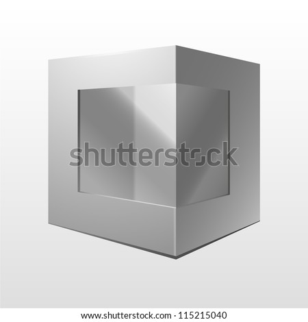 White Product Package Box With Window. Ready For Your Design. Vector EPS10