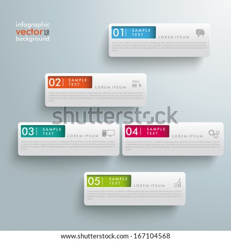 White rectangles on the grey background. Eps 10 vector file. - stock vector