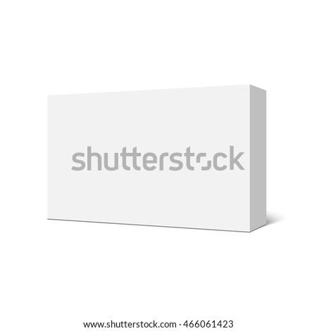 White Rectangular Box Package Vector Illustration Stock Vector ...