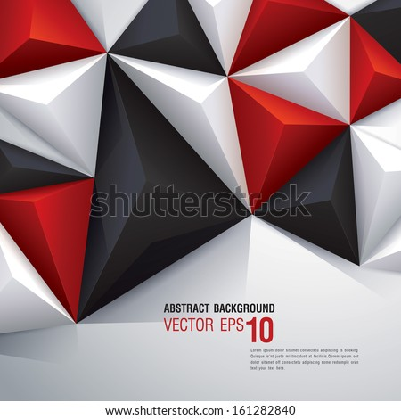 White, red and black vector geometric background can be used in cover design, book design, website background, CD cover, advertising.  - stock vector