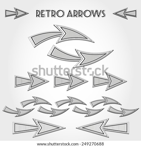 white retro arrows, retro concept