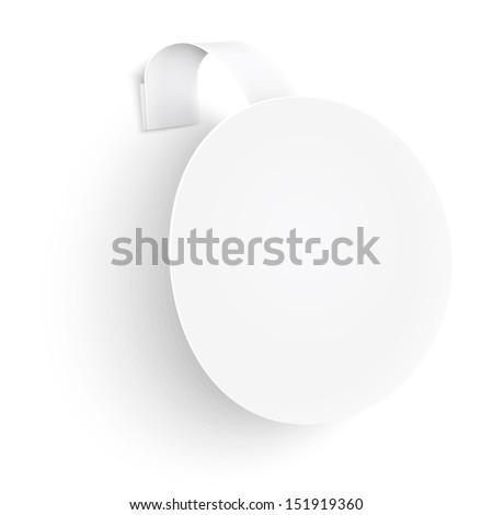 White round wobbler on white background. Vector illustfation. EPS10. - stock vector