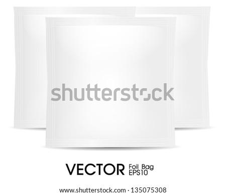 white sachet hanger bag - stock vector