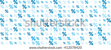 White sale banner with percent signs. Vector paper illustration. - stock vector
