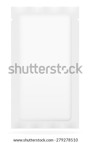 white sealed bag packing vector illustration isolated on background