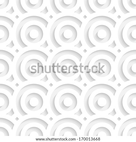 White Seamless Circles Pattern - stock vector