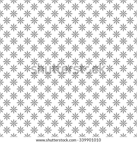 white seamless floral pattern. Vector background - stock vector