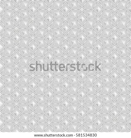 White seamless geometric pattern, ribbed surface, rhombs the figures, the 3D effect vector.