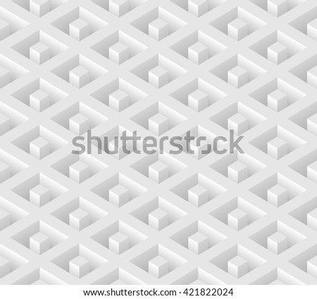 White seamless geometric pattern. Vector background - stock vector