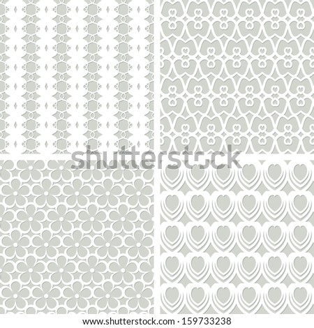 white seamless lacy patterns