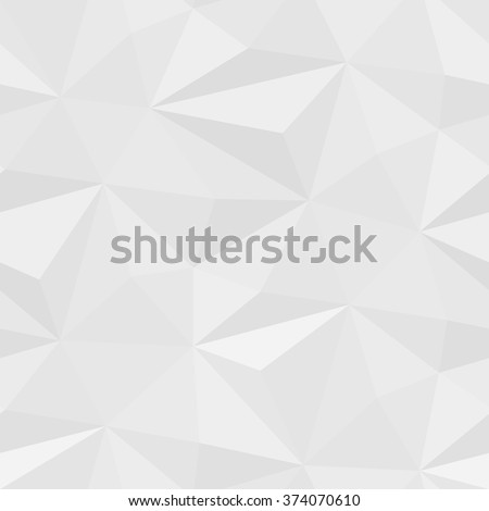 White seamless mosaic pattern of abstract triangle elements with shadows. Vector Illustration EPS 10 - stock vector